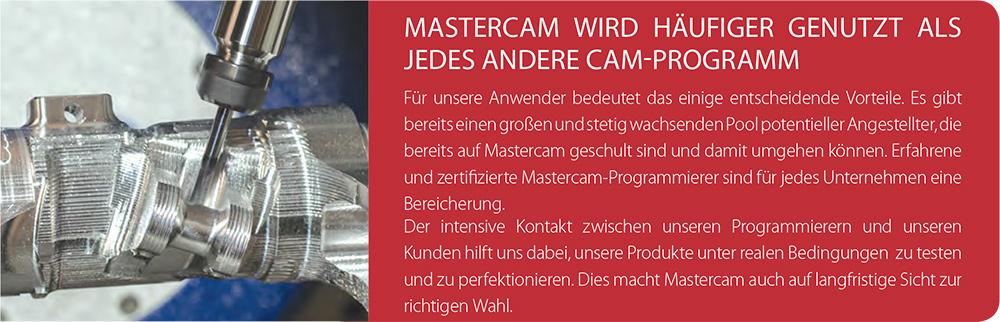 Mastercam Fräsen mit unserer innovativen Dynamic Motion Technology wurde mehr als jedes andere CAM-Programm unter Realbedingungen getestet. Auf Mastercam können Sie sich in jeder Situation verlassen!