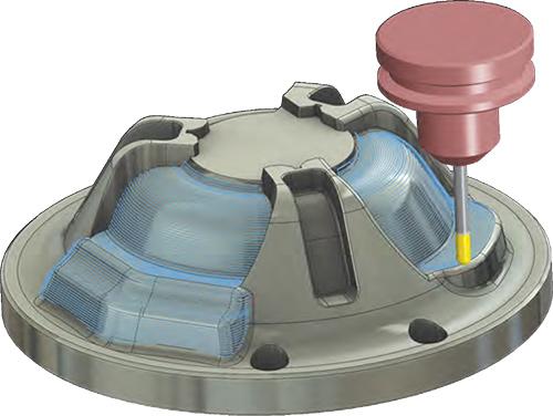 Mastercams 2D-Werkzeugwege ermöglichen einfache und optimierte Taschen-, Kontur-, Bohr- und Stirnbearbeitung und noch vieles mehr.