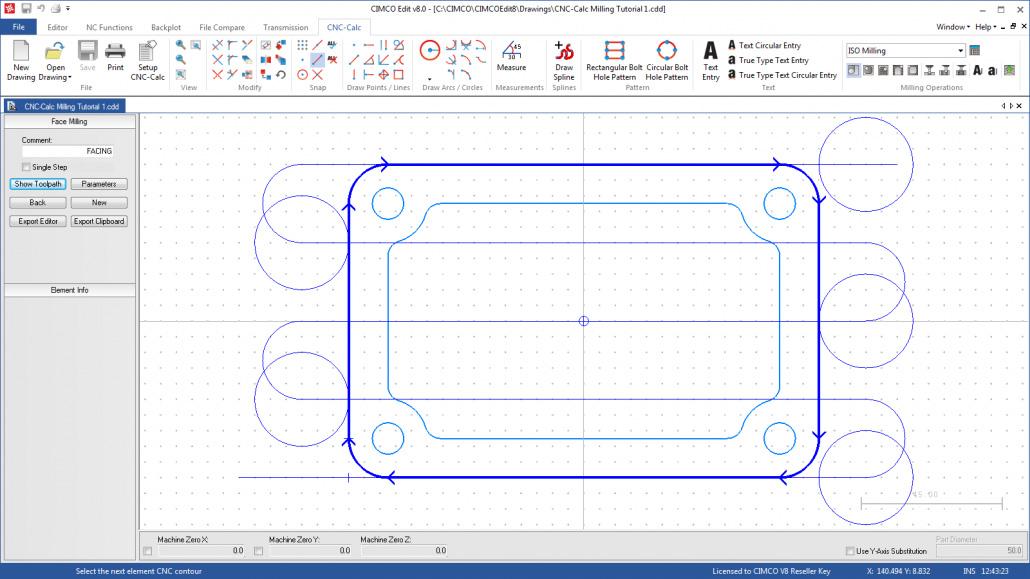 Grafik CIMCO CNC-Calc: Ein elementares CAD/CAM-Tool für die Fertigung
