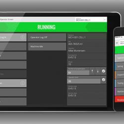 MDC-Max Operator Screen auf Tablet und Smartphone (Entwurf)